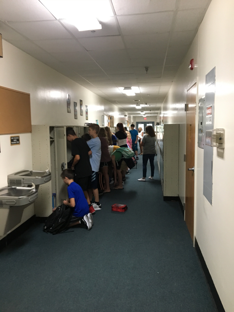 Jr High locker chaos on the first day!
