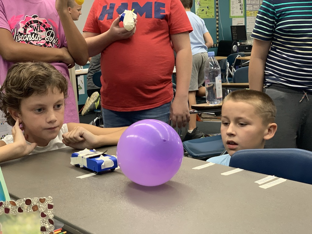 Fifth grade car competition in science.