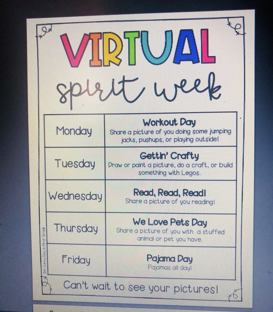 Virtual Spirit Week—March 23rd